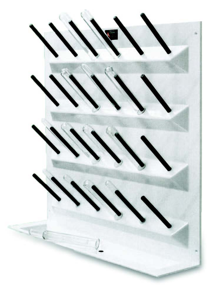 Test tube drying rack
