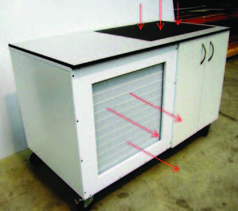 Mobile Downdraft Bench